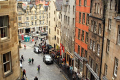 Tourists in the Greater Grassmarket, Edinburgh, Scotland, 11.08.2015 Royalty Free Stock Images