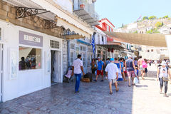 Tourists in Greece island Royalty Free Stock Photo