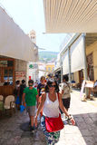 Tourists in Greece island Royalty Free Stock Photography