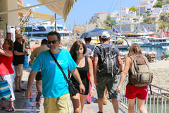 Tourists in Greece island Royalty Free Stock Photos