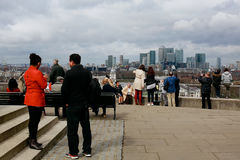 Tourists in Greenwich Stock Image