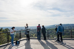 Tourists at the Griffith Observatory   Royalty Free Stock Image
