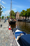 Tourists in Groningen. On a summer day Royalty Free Stock Images