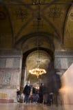 Tourists in the Hagia Sophia (Ayasofya) interior Stock Photos