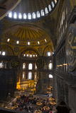 Tourists in the Hagia Sophia (Ayasofya) interior Stock Image