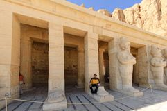 Tourists in Hatshepsut temple. Luxor. Egypt Stock Photo
