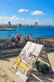 Tourists in Havana, Cuba Royalty Free Stock Photography