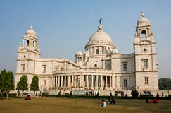 Tourists have rest near Victoria Memorial Stock Photography