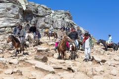 Tourists having fun on the Rohtang Pass, Himachal Pradesh, India Royalty Free Stock Image