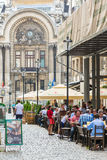 Tourists Having Lunch At Outdoor Restaurant Royalty Free Stock Images