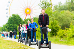 Tourists having Segway sightseeing Royalty Free Stock Photos