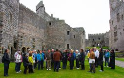 The Interior of Caernarfon Castle royalty free stock images