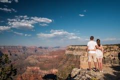 Tourists hiking at Grand Canyon. Arizona, USA Stock Photography