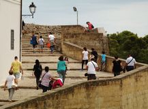 Tourists in the historic center of Otranto - Italy. Tourists in the historic center of Otranto a late summer day Royalty Free Stock Photography