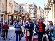 Tourists in the history site Roman Bath, UK Royalty Free Stock Photos