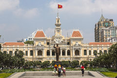 Tourists at Ho Chi Minh monument Royalty Free Stock Photo
