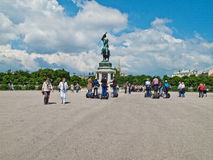Tourists at Hofburg gardens Royalty Free Stock Image