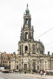 Tourists at the Hofkirche in Dresden Stock Photography