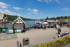 Tourists holidaymakers and visitors English Lake District Bowness on Windermere Cumbria England UK stock photo