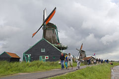 Tourists in Holland Stock Image