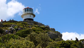 Tourists at Hope Cape. Royalty Free Stock Photography
