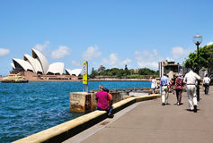 Tourists at The Iconic Sydney Opera Sydney Stock Photo