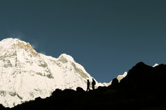Tourists In Annapurna Base Camp