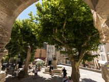 Free Tourists In In The Medieval Village Gordes, Vaucluse, Provence-Alpes-Côte D`Azur, Provence Royalty Free Stock Image - 123292986