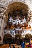 Tourists indoor of Berlin cathedral Berliner Dom Royalty Free Stock Image