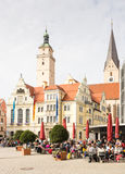 Tourists in Ingolstadt Stock Photos