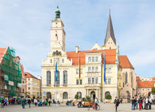 Tourists in Ingolstadt Royalty Free Stock Photography