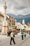 Tourists in Innsbruck Stock Images