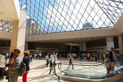 Tourists inside the Louvre - Paris Royalty Free Stock Photo