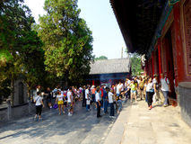 Tourists inside Shaolin Temple Royalty Free Stock Photography