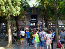 Tourists inside Shaolin Temple Stock Photos