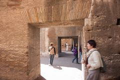 Free Tourists Inside The Colesseum Royalty Free Stock Photography - 124584397
