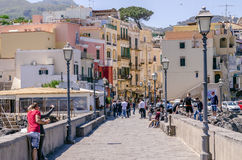 Tourists in Ischia in the Gulf of NApoli, Italy Royalty Free Stock Images