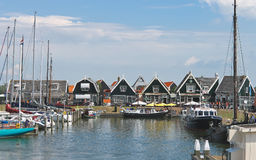 Tourists on the island of Marken pier. Royalty Free Stock Photography