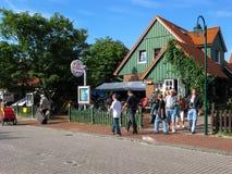 Tourists on island Wangerooge, Germany Royalty Free Stock Photo