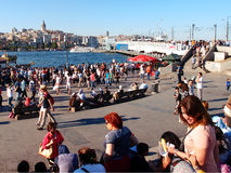Tourists in Istanbul stock photos