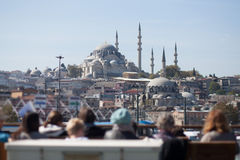 Tourists in Istanbul, Turkey Stock Images