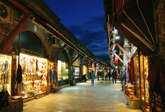 Tourists in Istanbul walking through the central Arasta bazaar Royalty Free Stock Photography