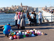 Tourists in Istanbul Royalty Free Stock Images