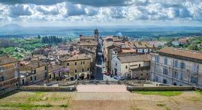 Tourists Italy - Caprarola - Viterbo - Lazio - village stock photography