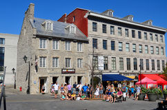 Tourists on Jacques Cartier place Stock Image