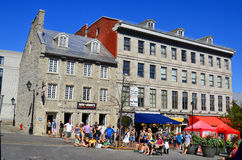 Tourists on Jacques Cartier place. MONTREAL CANADA AUGUST 24: Tourists on Jacques Cartier place on August 24 2013 in Montreal Canada. Place Jacques-Cartier Royalty Free Stock Photo