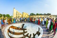 Tourists at the Jai Prakash Yantra at Jantar Mantar, Jaipur Stock Photos