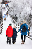 Tourists in Japan at winter Royalty Free Stock Image
