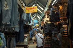 tourists at Jeans store in Jatujak Market Royalty Free Stock Photos