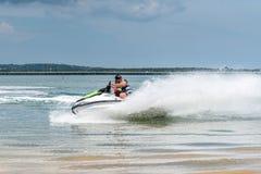 Free Tourists Jet Skiing In Benoa Bay Bali Royalty Free Stock Image - 140400276